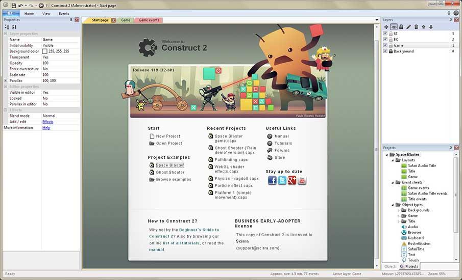 Contruct 2 - Uma ótima Game Engine para quem está começando