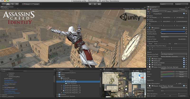 Interface da Game Engine Unity 3D